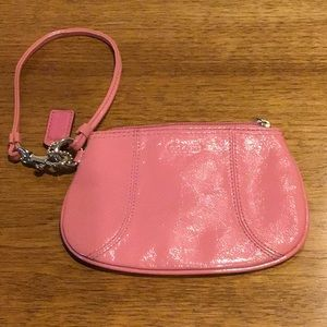 Authentic Coach Wristlet in rose/silver NWOT